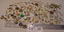 HUGE 125 Vtg Clasp Rhinestone + signed Jewelry Findings Repair Bracelet Necklace