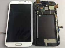 Samsung Galaxy Note 2 N7100's white all-liquid LCD touch glass digital frame.a