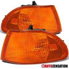 For 92-95 Honda Civic 4dr Sedan JDM Amber Turn Signal Corner Lights