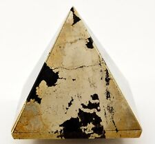 49mm 175g Golden Iron PYRITE w/ HEMATITE Pyramid Polished Crystal Mineral - Indi