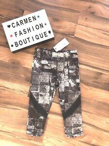 BNWT ALALA @ BANDIER MAP PRINT KNEE TIGHT CAPRI PANTS LEGGINGS XS RRP $95.00