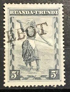 Ruanda Urundi -  PAQUEBOT overprint unframed