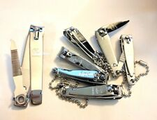 Lot of 6 Nail Clippers + 1 Toe Nail Clipper with File and Chain