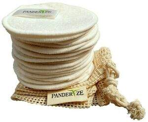 Make up Remover Pads Reusable Bamboo Cotton Washable Face Wipes Zero Waste