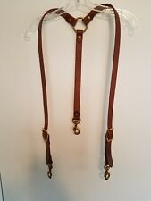 CUSTOM HANDMADE LEATHER SUSPENDERS: MADE TO ORDER: HEAVY DUTY: MADE IN THE USA