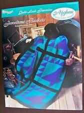 Needlecraft Shop Afghan Collector's Series Quilt Look Favorites Jeweltone Basket