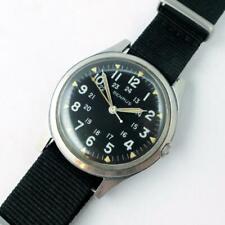 Vintage 1960's Benrus #3061 BULLITT Black Military Dial Watch - NICE & RUNNING