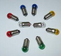 Lampes de Rechange 6mm Balle - Couleur E5.5 - 19V - au Choix 10 X Nouveau