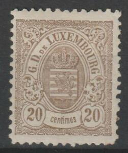 LUXEMBOURG 1880 - 20c MH backstamped / N7655
