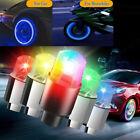 4/8X LED Wheels Tire Air Valve Stem Caps Blue/Red Neon Light For Car Motor Bike