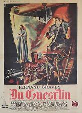 """""""DU GUESCLIN"""" Affiche originale entoilée Offset OFER 1948 (Fernand GRAVEY)"""