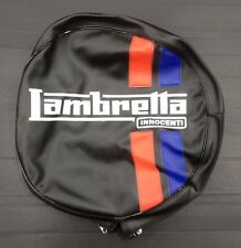 """Spare wheel cover 10"""" with Lambretta logo black/red/blue for Lambretta"""
