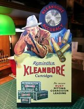 Repro Remington Umc Kleanbore Accuracy Standing Advertising Die Cut
