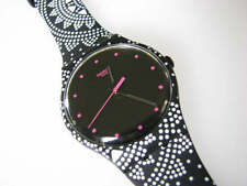 MAGIC DOTS! New Gents Swatch with GLOW Micro Pattern Silicone Band! NIB-RARE!