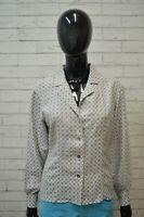 Giacca MAX MARA WEEKEND Size S Cappotto Jacket Donna Giubbotto Seta Grigio Pois