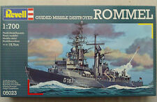 """Revell 05023 Guided Missile Destroyer """"Rommel"""" 1:700 nuevo sellado &"""
