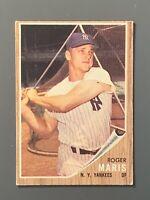 1962 Topps #1 Roger Maris VGEX New York Yankees