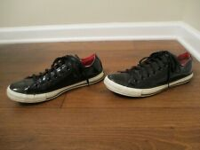 Used Sz 9 Fit Like 9.5 - 10 Converse CT All Star Low Shoes Patent Leather Black
