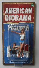 "HITCHHIKER MALE FEMALE AMERICAN DIORAMA 1:24 Scale Figurine 3"" Lady Man Figure"