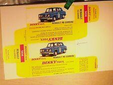 REPLIQUE  BOITE RENAULT 8 GORDINI /DINKY TOYS 1968