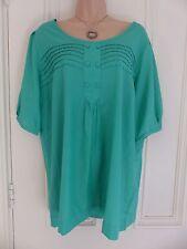 Autograph Weekend UK size 16 emerald green silk blend blouse