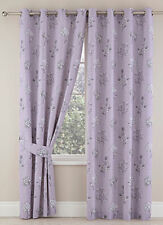 """Tiffany Blackout Thermal Ring Top Eyelet Heading Curtains 4 Colours Available Lilac 90x90"""" (229x229cm)"""