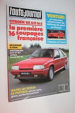 Auto Journal 8-87-Citroën BX GTi 16S-MVS Venturi-Honda Accord-Kadett GSi cab