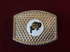 Vintage CU University Of Colorado Buffaloes Silver Color Unisex Belt Buckle