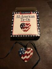 Longaberger 1996 All American small Flag tie-on - new in box