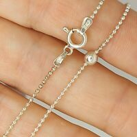 Solid sterling silver 925 bracelet chain Az59 ball circle design  7 inch