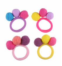 New 2Pc Red Color ^*^Ponytail Holder Elastic Ring Bow Hairband Women Hair Ties