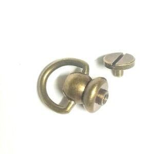 swivel D ring rivet screw back