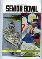 1965 Senior Bowl (Alabama) _RARE_ NCAA Football Program - Tom Landry Joe Namath!