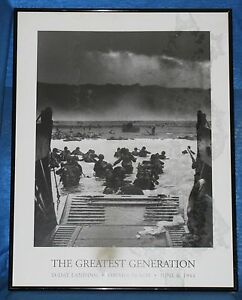 """D-DAY LANDING (1944) Framed Poster THE GREATEST GENERATION  20"""" x 26"""""""