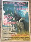 Large Poster France  Marseille Colonial Exhibition Du Congo Au Cameroun 1922