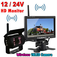 """Wireless 7"""" Hd Lcd Vehicle Rear View Monitor Backup Camera for Truck Rv Trailer"""