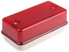 RS Pro, Rectangular Red LED Bulkhead light, 110 V ac/dc, Polycarbonate, IP64, wi