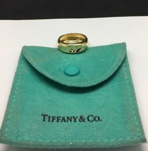 Tiffany & Co 18K Yellow Gold Elsa Peretti Ring Size 6.5