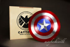 """CATTOYS Captain America Shield Metal Deluxe Collectible 1 1 Scale 22"""" Avengers"""