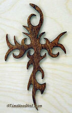 Gothic Cross, Handmade Baltic Birch Cross, Wall Hanging or Ornament, Item S4-7