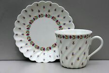 """Cup and Saucer """"Blue berries"""", bone china, LOMONOSOV IMPERIAL PORCELAIN, Russia"""