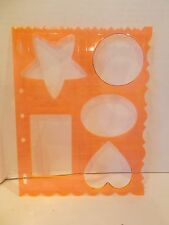 friskars shapes 1 template scrapbook cutting tool heart circle oval Victorian