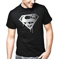 Superman's Death Dark Hero Held Villain Silber Metallic Comic Geschenk T-Shirt