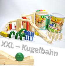 XXL HOLZ KUGELBAHN 72 Teile Maxi Bausatz meine erste Murmelbahn ~yx36 2x 1675 +