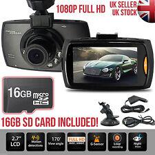1080p HD Dash Cam Night Vision Car DVR 2.7″ LCD Camera UK G Sensor Dashboard
