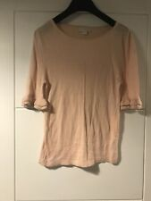 Monsoon Pale Pink Metallic Hem Thin Knit Frill Flute Sleeve Top 12