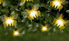 GloBrite 10 LED Warm White Butterfly Outdoor Garden String Solar Lights