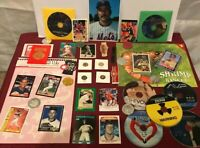 Junk Drawer Lot of Collectibles, Mickey Mantle, John Elway, Pennies, Misc #4//24