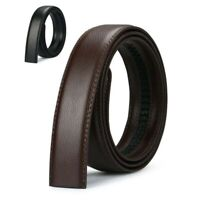 Black Jeans Ratchet Belt Men's Brown Leather Luxury Automatic Buckle Strap