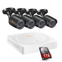 8CH 1080N DVR 1TB HDD Outdoor 720p Home Surveillance Security Camera System Kit
